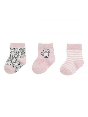 3-pak baby sokken roze