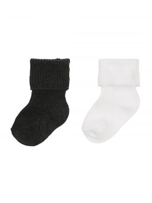 2-pak newborn sokken grijsmelange
