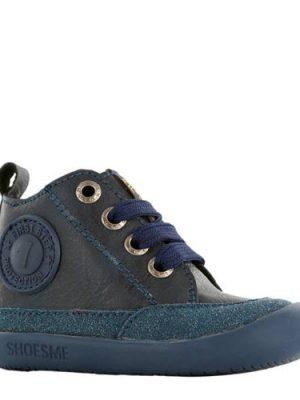 Shoesme leren babyschoenen donkerblauw