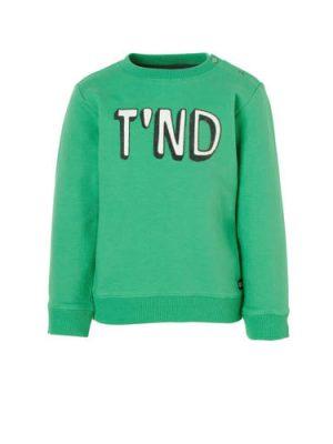 Tumble 'n Dry Lo sweater Azad met logo groen