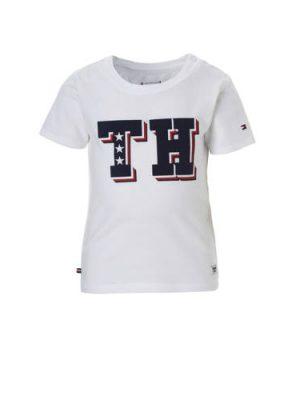 Tommy Hilfiger baby T-shirt met logo wit