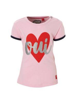 Quapi baby T-shirt met print Romana roze