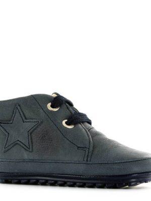 Shoesme leren babyschoenen met ster blauw
