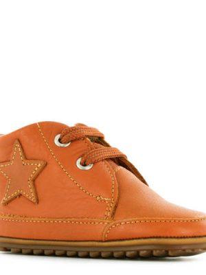 Shoesme leren babyschoenen met ster cognac