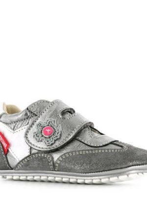Shoesme metallic suède babyschoenen zilver