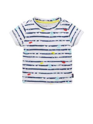 Noppies baby T-shirt met allover print blauw