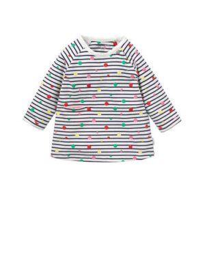 Noppies newborn baby jurk Roseville met strepen