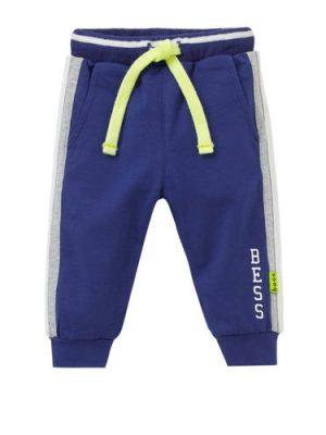 B.E.S.S baby joggingbroek met zijbies blauw