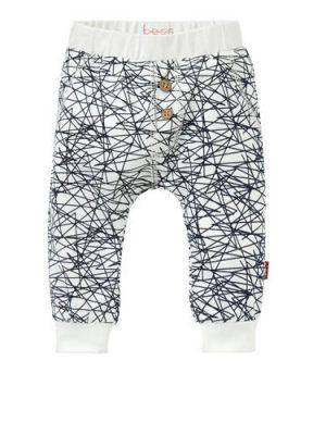 B.E.S.S newborn broek met grafische print wit
