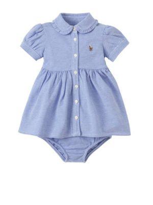 POLO Ralph Lauren baby jurk met broek blauw