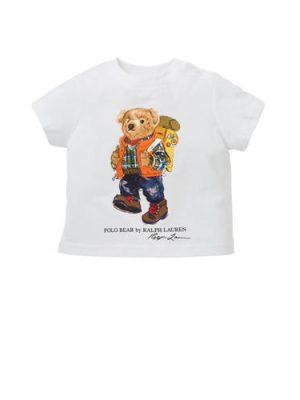 POLO Ralph Lauren baby T-shirt met print wit