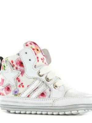 Shoesme gebloemde babyschoenen wit
