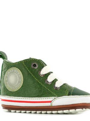 Shoesme leren babyschoenen groen