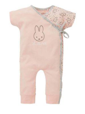 nijntje newborn overslagboxpak met all over print roze