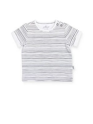 Jollein gestreept baby T-shirt zwart/wit