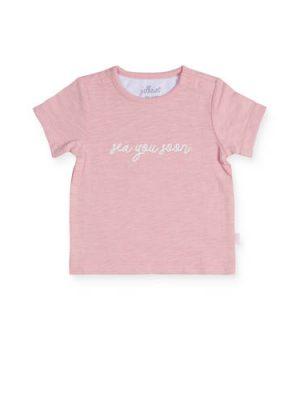 Jollein baby T-shirt met tekst roze