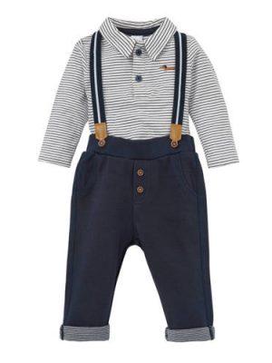 C&A Baby Club polo + broek + bretels