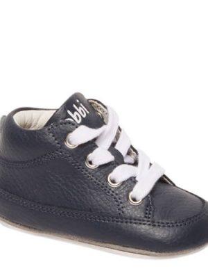 Bobbi-Shoes leren babyschoenen blauw