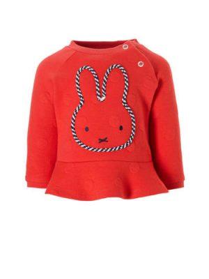 C&A nijntje sweater met stippen rood
