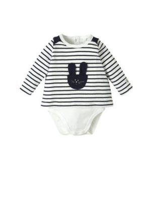 Petit Bateau newborn baby gestreepte broek blauw