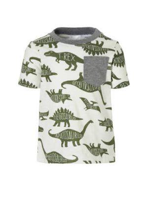 Carter's T-shirt met dino's ecru