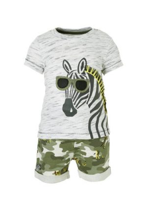 C&A Baby Club T-shirt + sweatshort met dierenprint