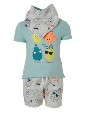 C&A Baby Club T-shirt + sweatshort + bandanaslab
