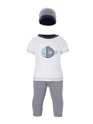 C&A Baby Club T-shirt + broek + muts