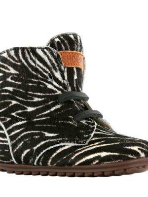 Shoesme leren babyschoenen met zebraprint