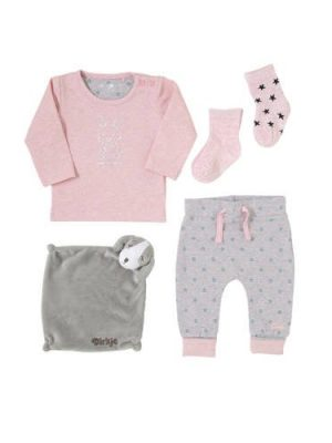 Dirkje newborn longsleeve + broek + sokken + knuffeldoekje