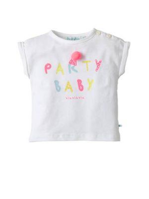 blablabla baby T-shirt Genta met tekst wit