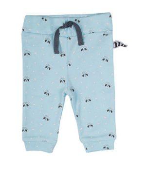 Zero2three broek met all over print lichtblauw/donkerblauw