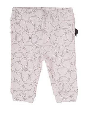 Zero2three broek met all over print wit/grijs