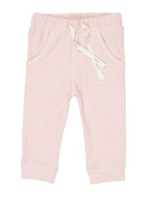 Koeka gestreepte broek Linescape roze/wit
