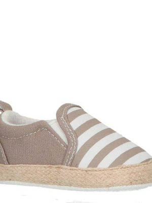 XQ espadrilles babyschoenen kaki/wit
