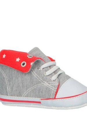 XQ babyschoenen grijs/rood