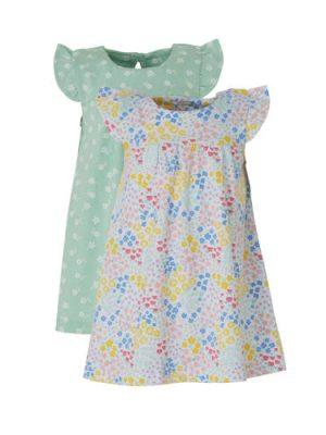 C&A Baby Club gebloemde jurk - set van 2