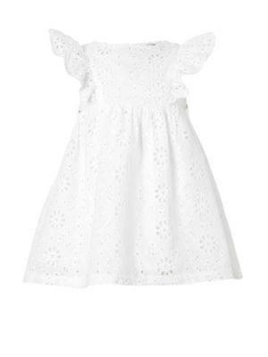 C&A Baby Club broderie jurk wit