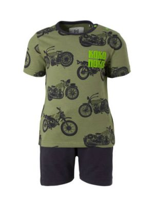 Koko Noko baby set T-shirt + short legergroen
