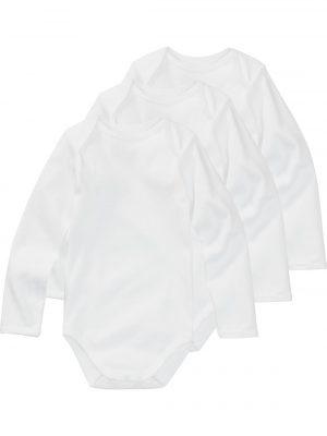 romper katoen - 3 stuks wit
