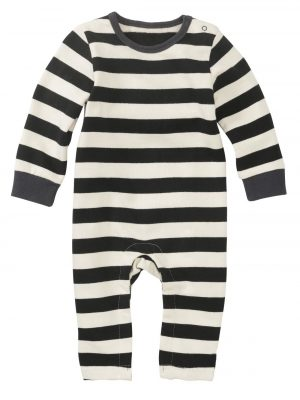 newborn baby jumpsuit zwart/wit