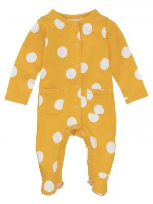 newborn baby jumpsuit geel