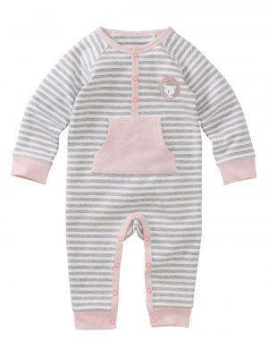 newborn jumpsuit roze