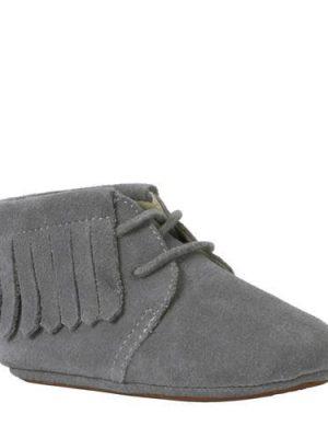 Mockies leren babyschoenen grijs