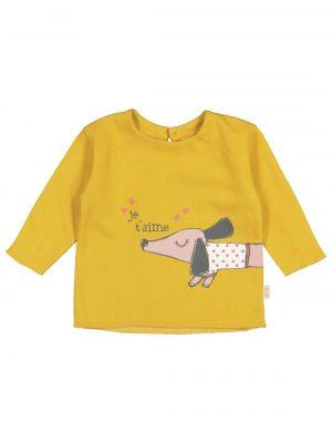 babysweater geel