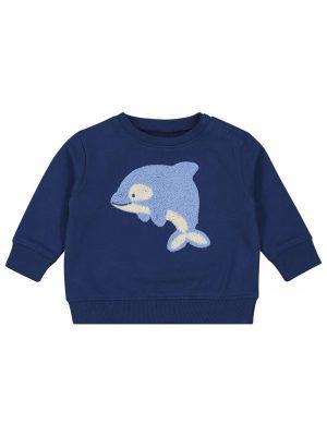 babysweater donkerblauw