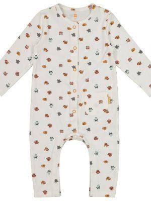 newborn jumpsuit - biologisch katoen wit