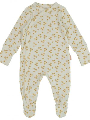 newborn jumpsuit met bamboe wit