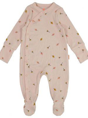 newborn jumpsuit met bamboe roze