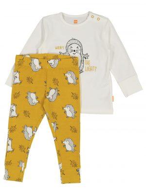 baby pyjama met bamboe geel